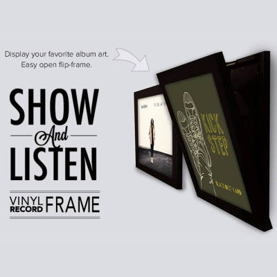 flip frame show and listen lp ramme sort